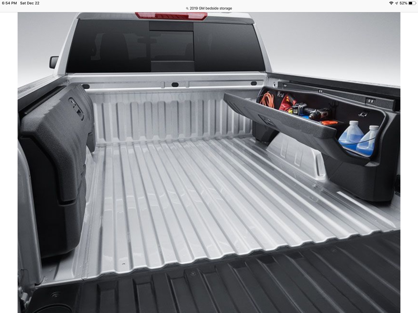 Side mounted bed storage - 2019/2020 Chevy Silverado & GMC ...