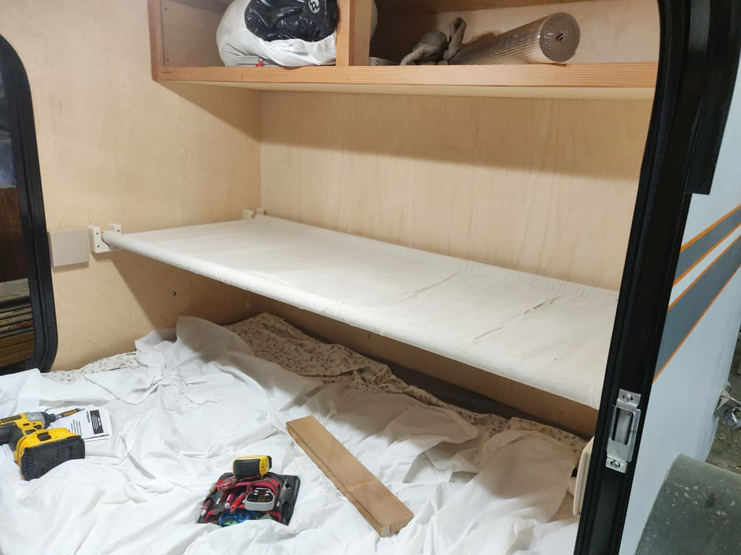 Picture of: Teardrops N Tiny Travel Trailers View Topic Fold Up Bunk Ideas