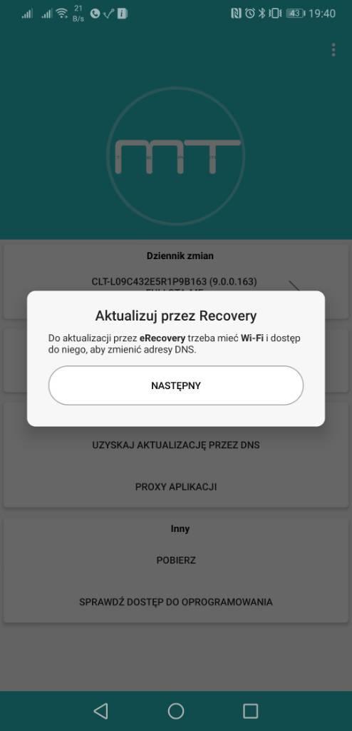 Poradnik] Aktualizacja systemu przez aplikację Firmware Finder i