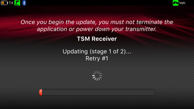 TSM update for receiver