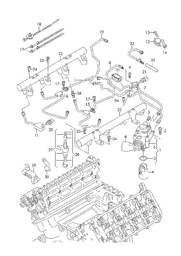 Audi S5 V8 4 2l Caua Fuel Return Line