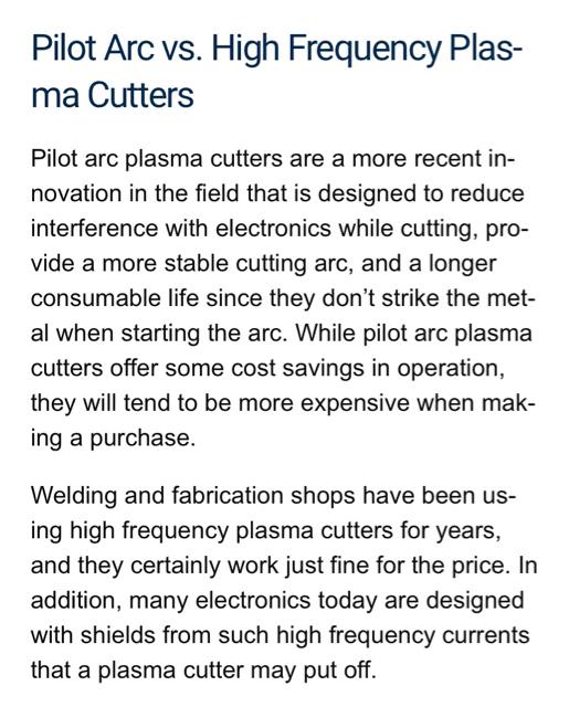Plasma, EDM / Other similar machine Project Log > Pilot arc for Cnc