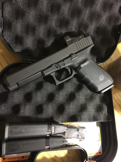 glock 41 mos gen 4 45 acp with Burris fast fire 3 (fort Walton)