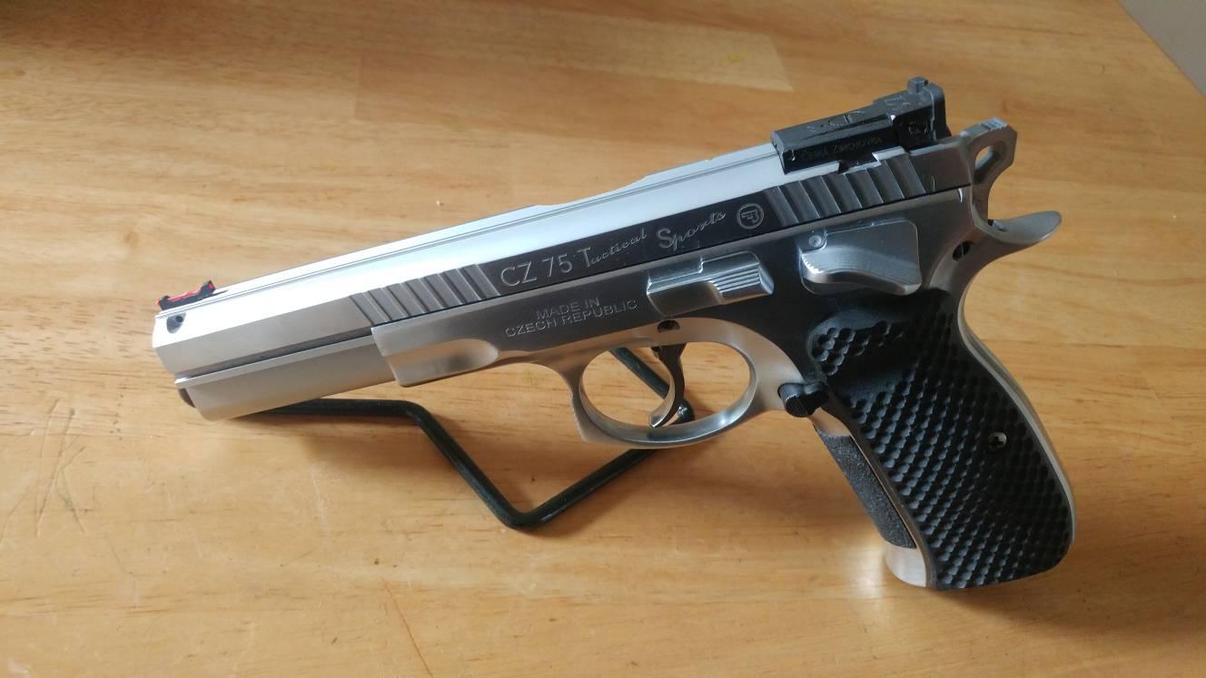 SOLD-Hard chromed CZ75 ready Tactical Sport Slide FS  9mm barrel now