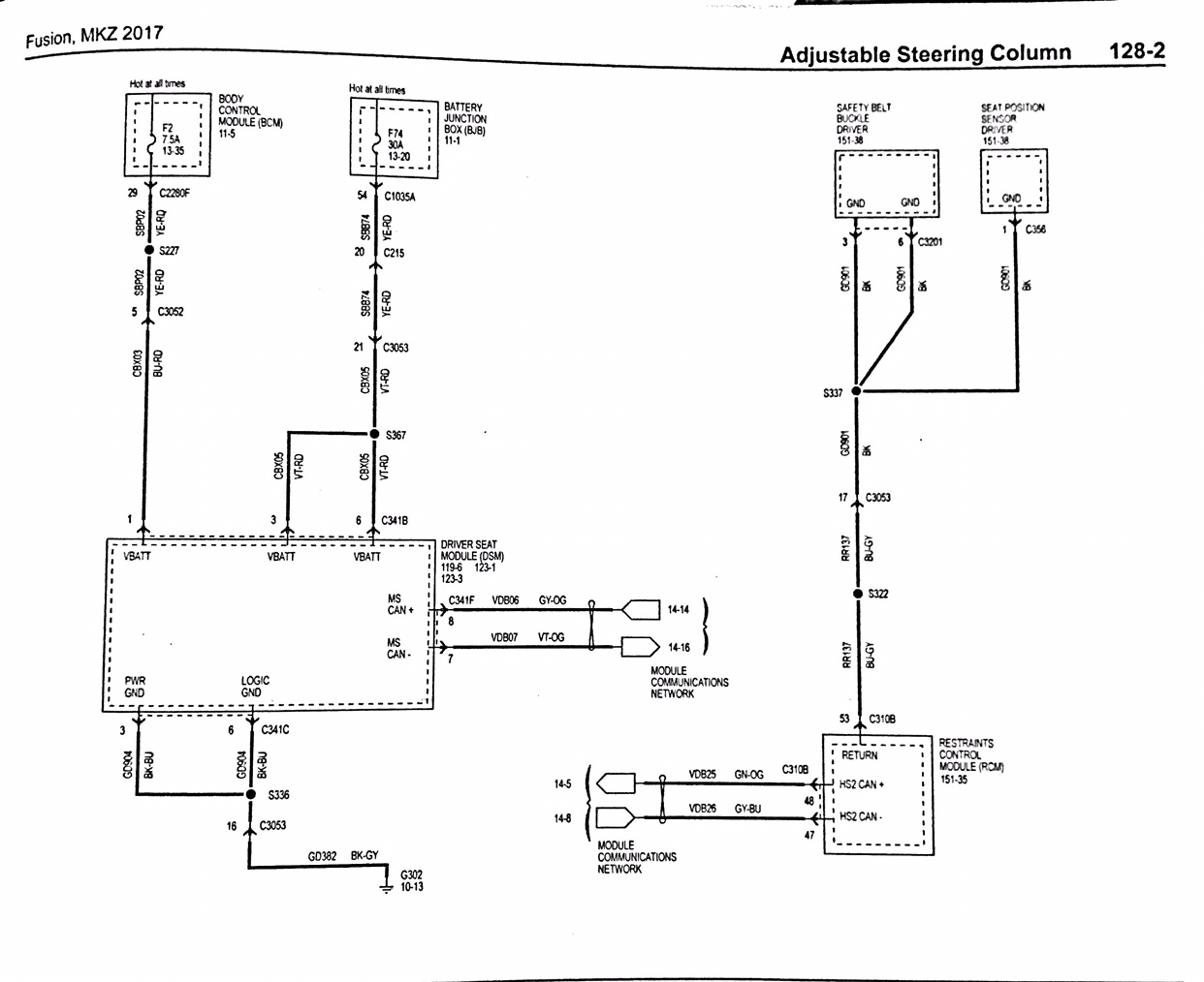 fusion 2017 driver seat wiring diagram2GFusions