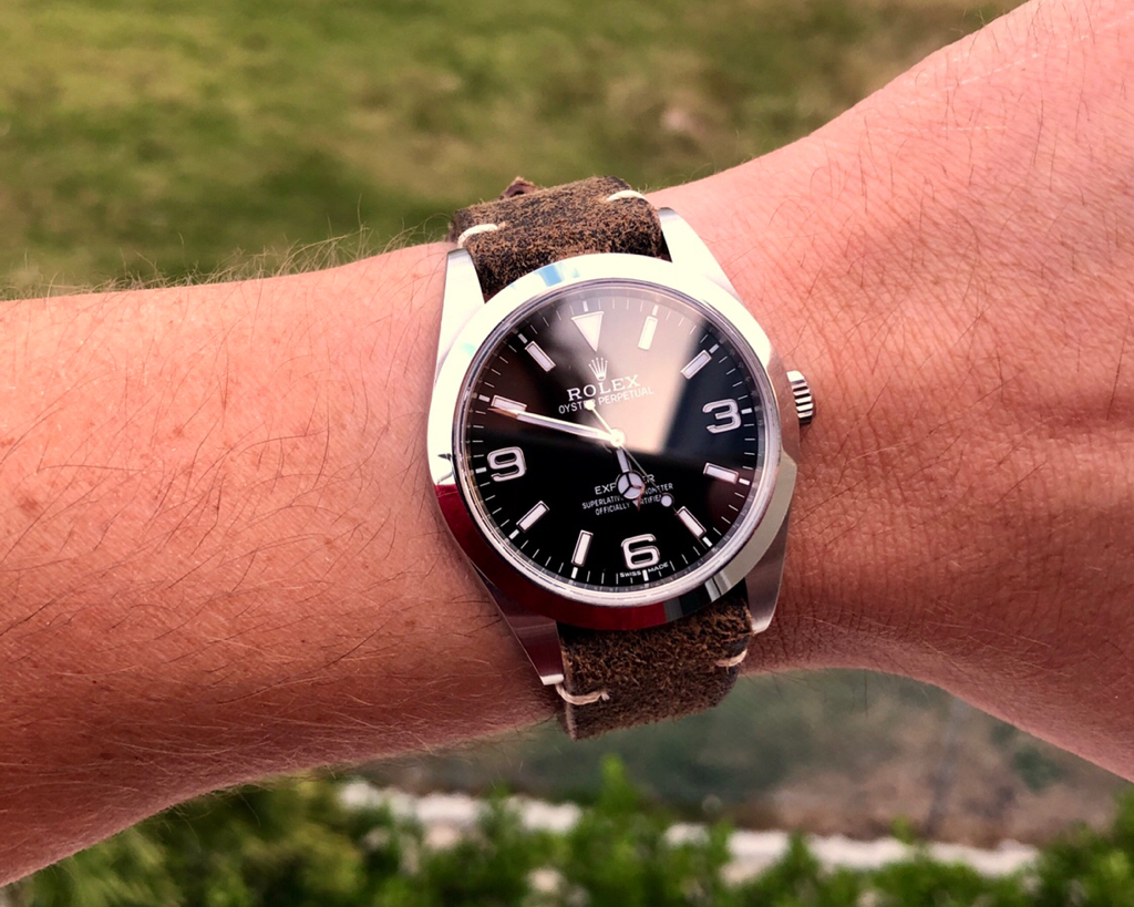 Explorer 1 Rolex Leather Strap Images anyone?