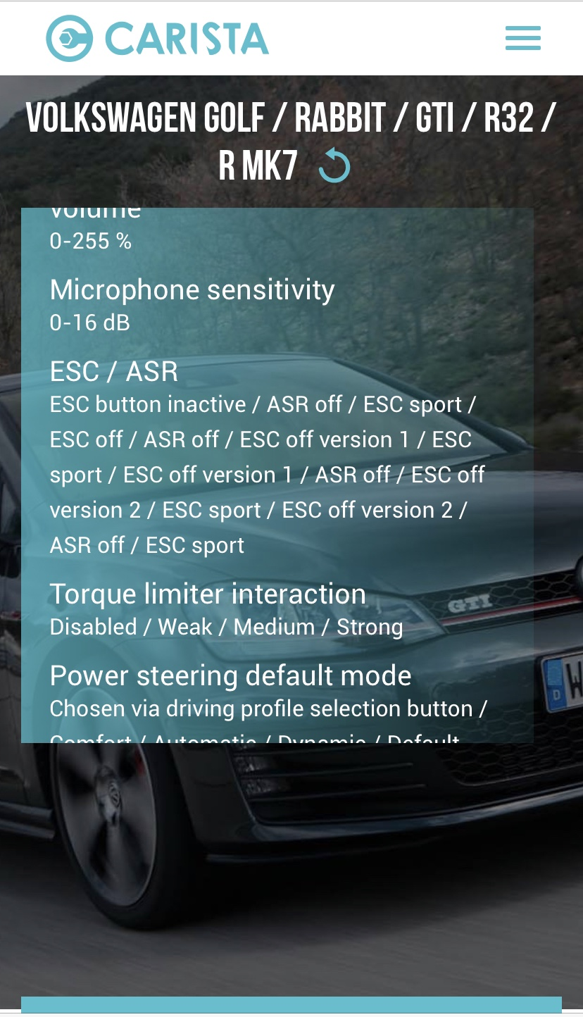 ESC coding discovery - GOLFMK7 - VW GTI MKVII Forum / VW