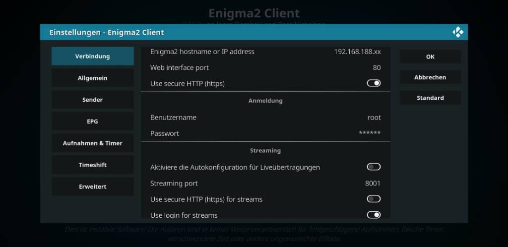 Kodi Enigma2 Client - DM920UHD - Newnigma²