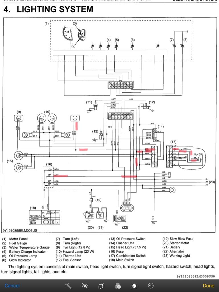 Kubota Bx2200 Starter Wiring Diagram