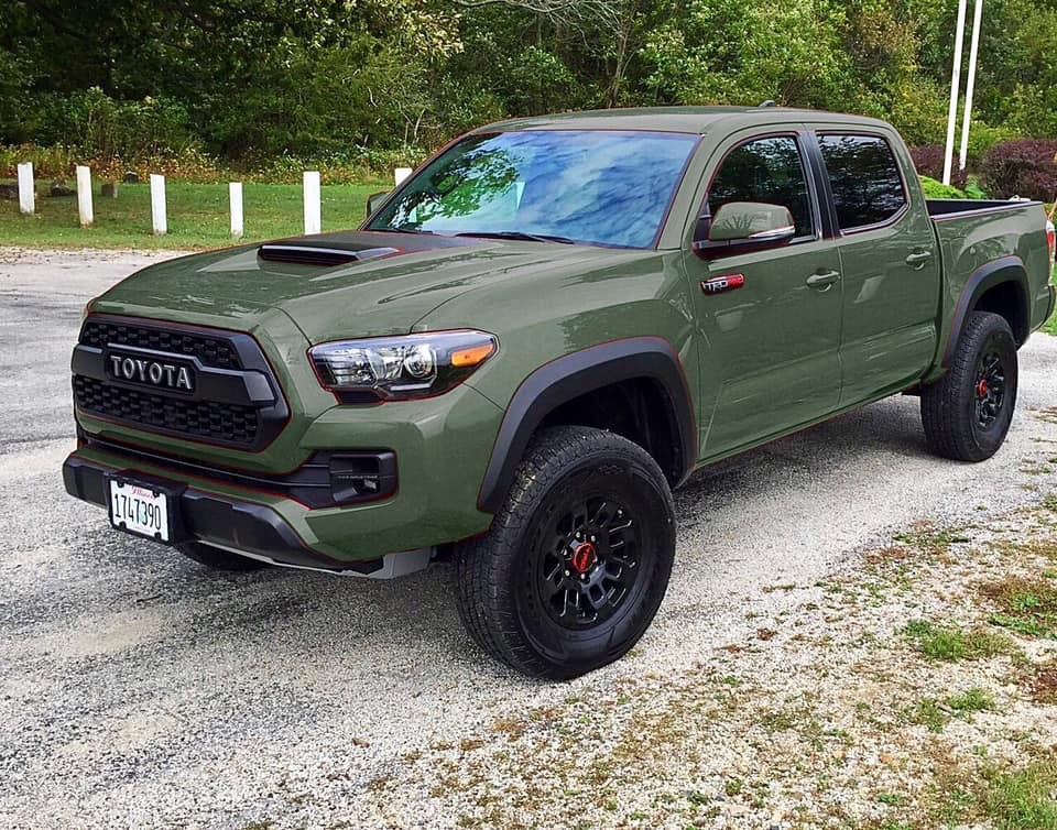 2020 Trd Pro Updates Army Green Push Button Start Page