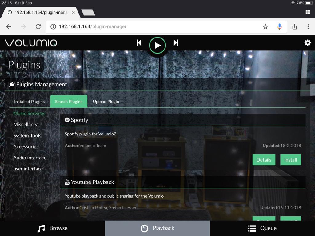 Volumio/Spotify   The Audio Standard