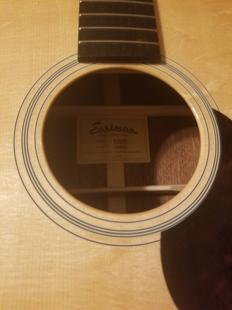 Seymour Duncan Mag Mic installed in Eastman E1OM - The Acoustic