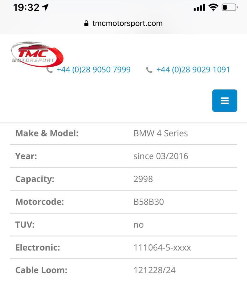 SOLD - TMC Tuning box for B58 340i & 440i (Bluetooth version