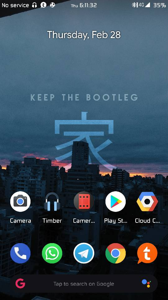 ROM [UNOFFICIALL]BootleggersROM-Pie4mido 4 0-Stable