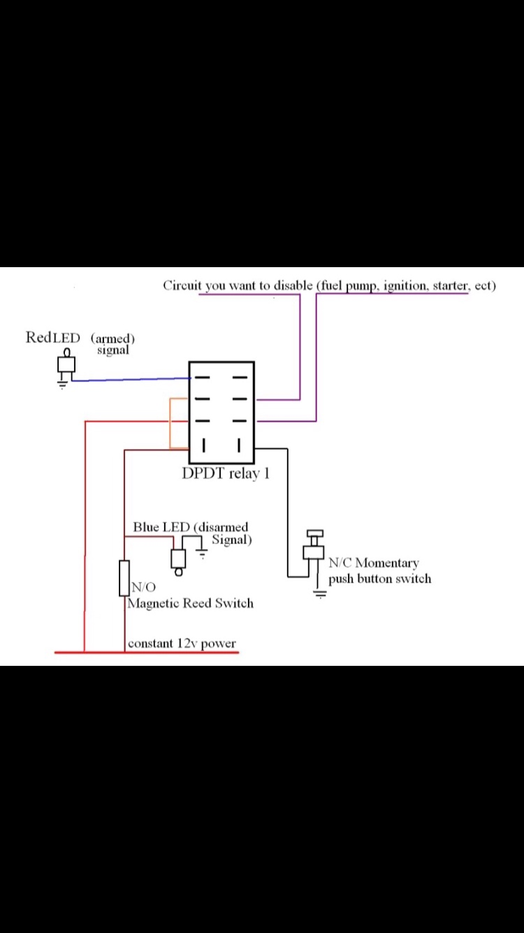 on magnetic dpdt relay wiring diagram