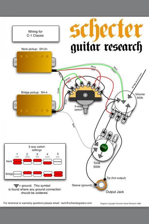 5 way switch wiring diagram schecter guitars  part for