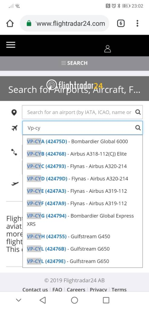 Data errors in Flightradar24 aircraft database - Page 761