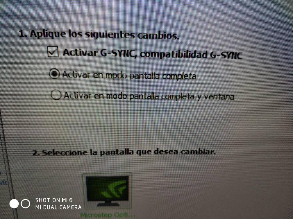 Problema al activar el G-sync Compatible
