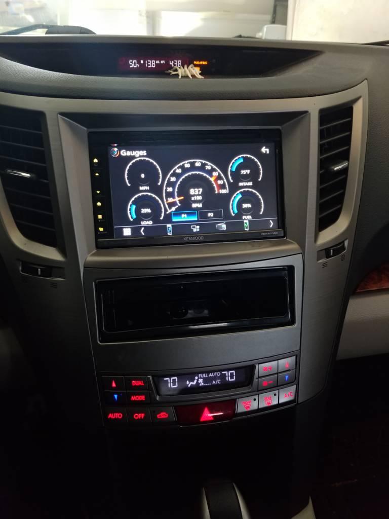 w// Factory NAV /'10-/'12 Metra 95-8910S 2 DIN Dash Kit for Subaru Legacy Outback