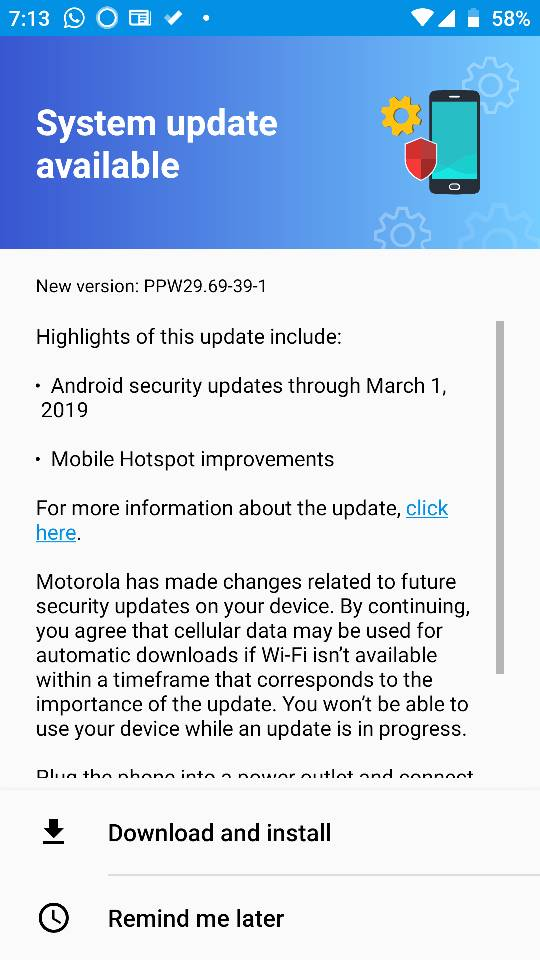 March Security Patch for Android One Moto X4 - Android Forums at