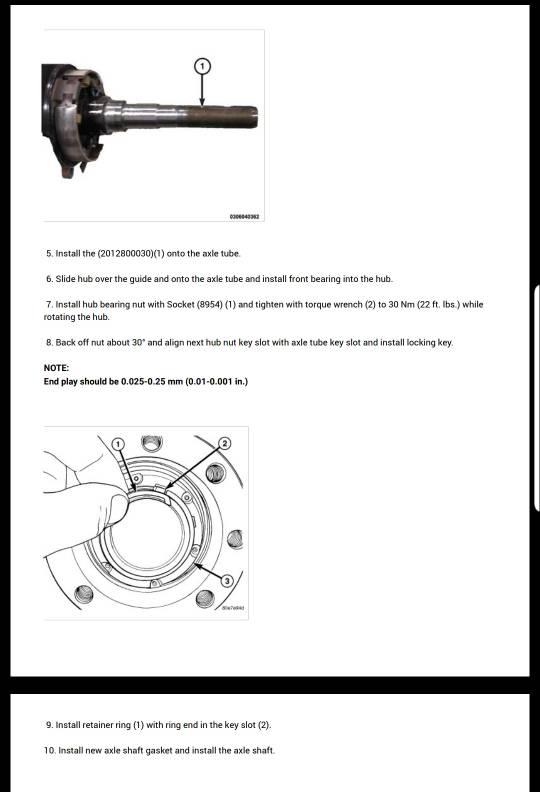 Help 2013 rear hub torque - Dodge Cummins Diesel Forum