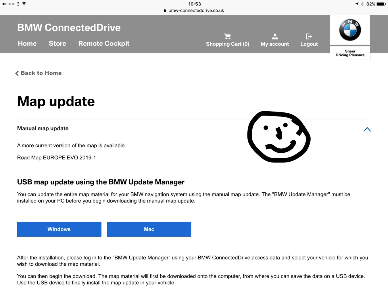 bmw download manager map update