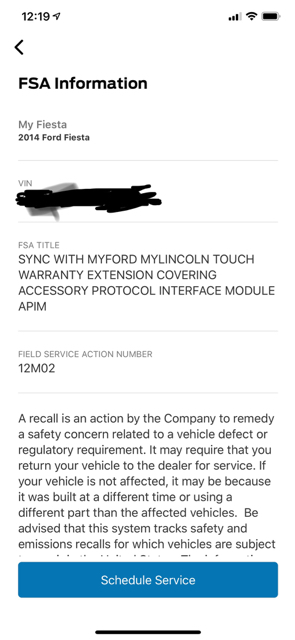 ford accessory protocol interface module (apim)