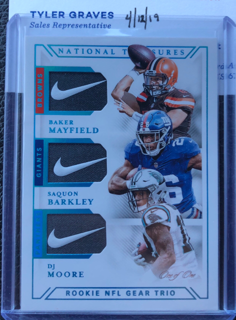 sale retailer bbbc8 6343c Baker Mayfield, Saquon Barkley, DJ Moore Treasures Triple ...