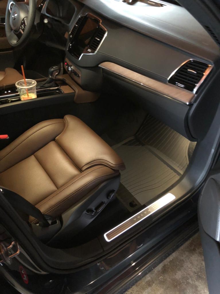 2018 Xc90 T6 Inscription Denim Blue Maroon Brown Luxury