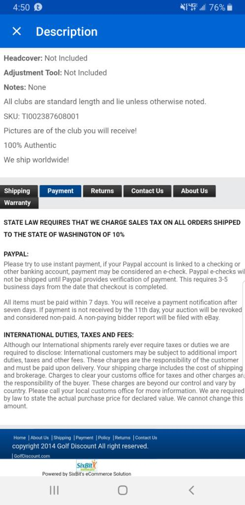 Tax in eBay purchases - The Hackers Paradise