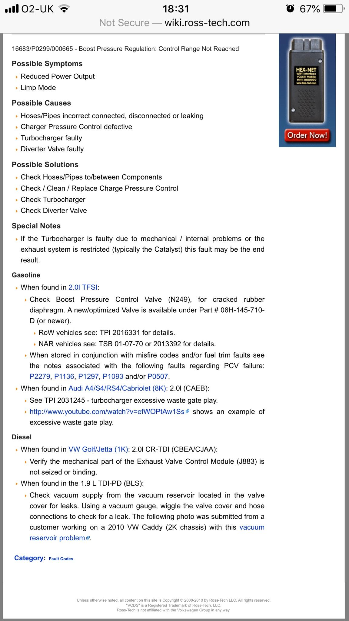 P0299 error code | Audi-Sport net