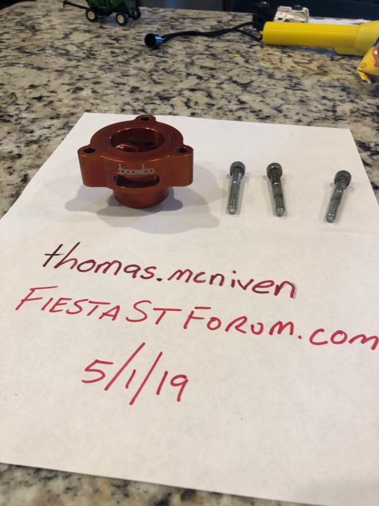 SLD - [SOLD] Boomba spacer with hardware | Fiesta ST Forum