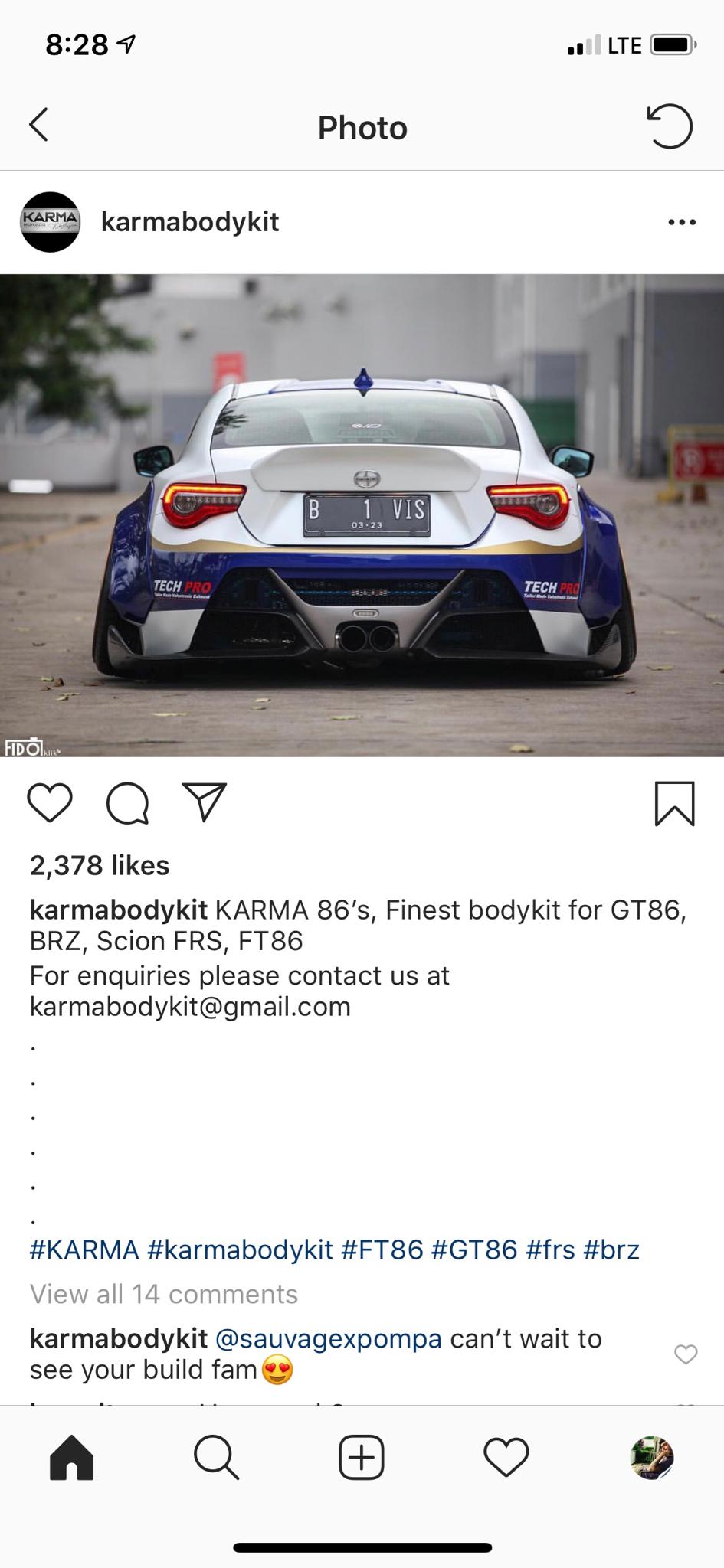 Karma Bodykit Gt86