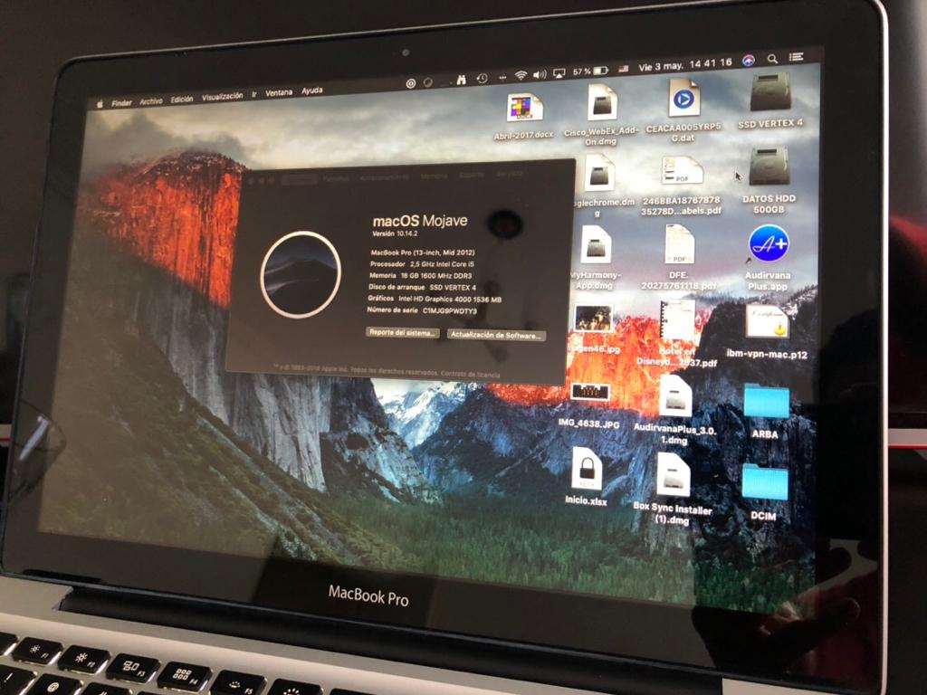 Ver Tema - MacBook Pro 13, Mid 2012, SSD 128 + HD 500 + 16GB RAM