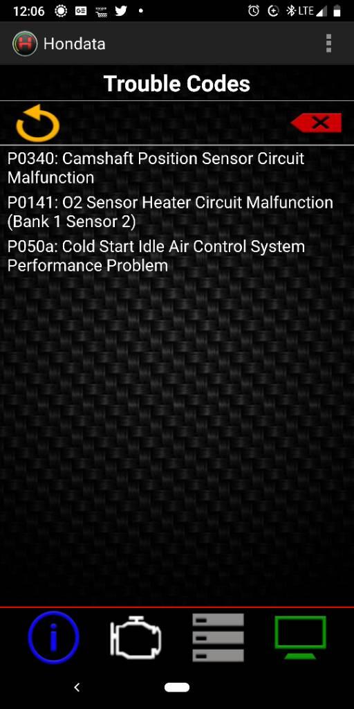 Sensor problems
