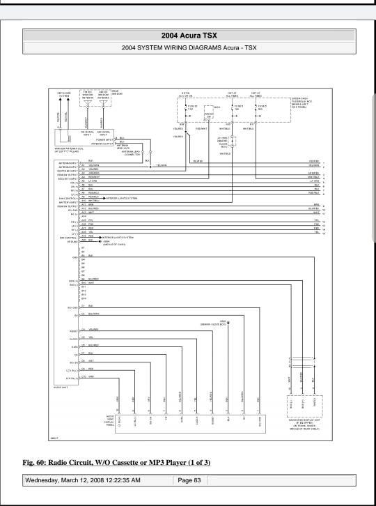 2006 TSX Radio Issues, pretty sure I'm screwed | Acura TSX Forum | Acura Speakers Wiring Diagram |  | TSX Club