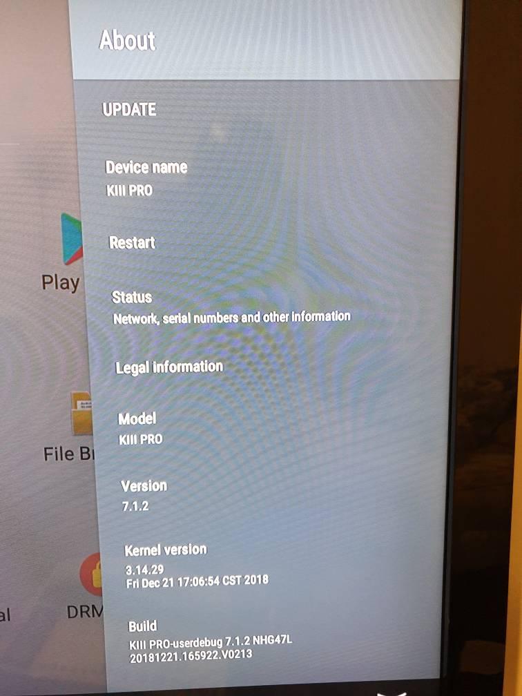 MECOOL KIII PRO Android 7 1 3GB/16GB TV BOX Firmware Update