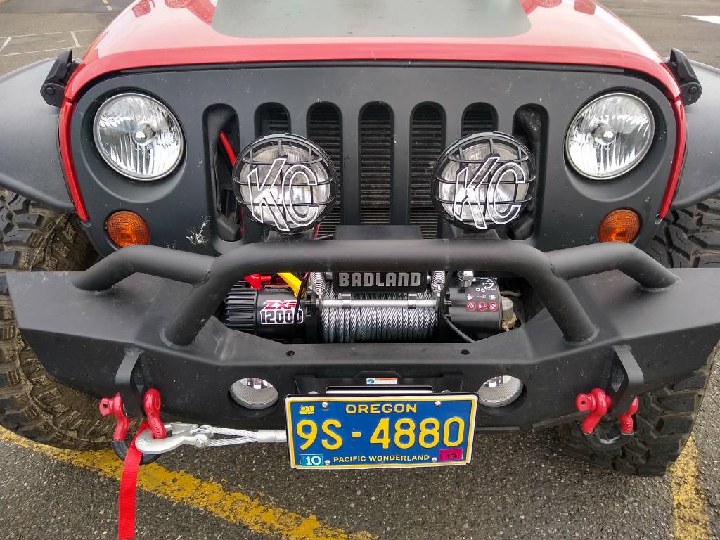 Badlands 12000lb winch from harbor freight - Jeep Wrangler Forum