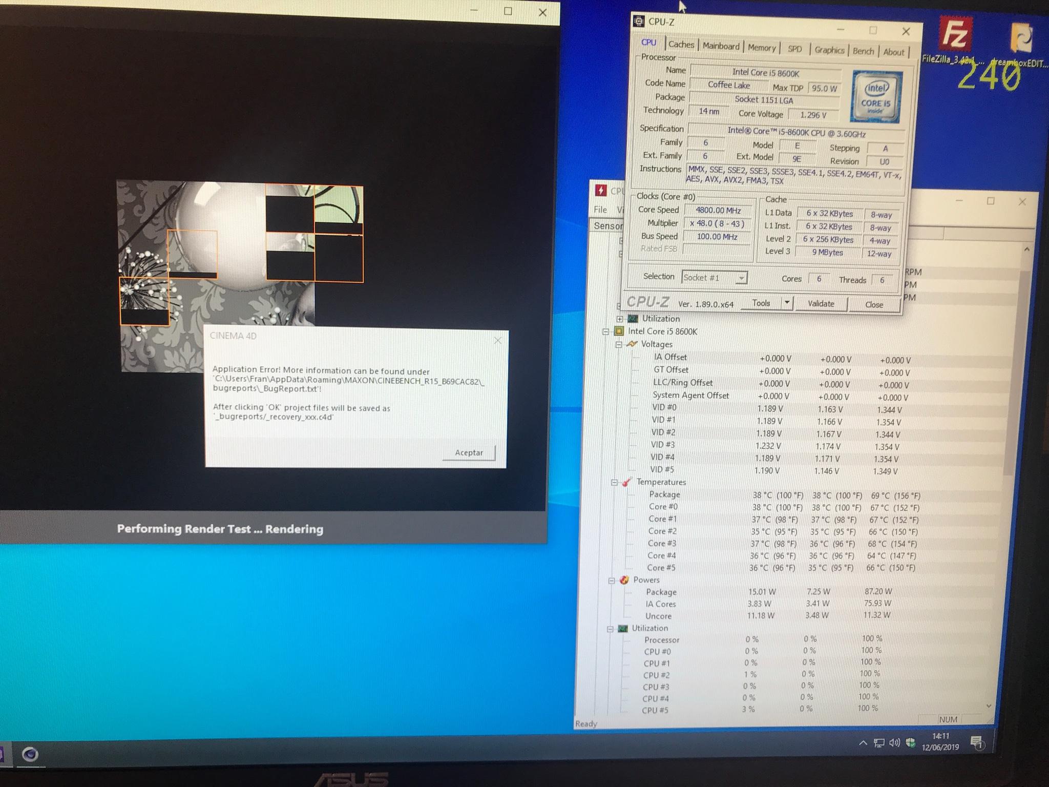 Ayuda OC i5 8600K placa Z370 Gigabyte