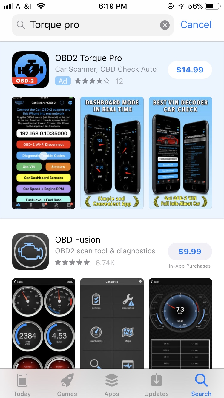 OBD2 and Apps