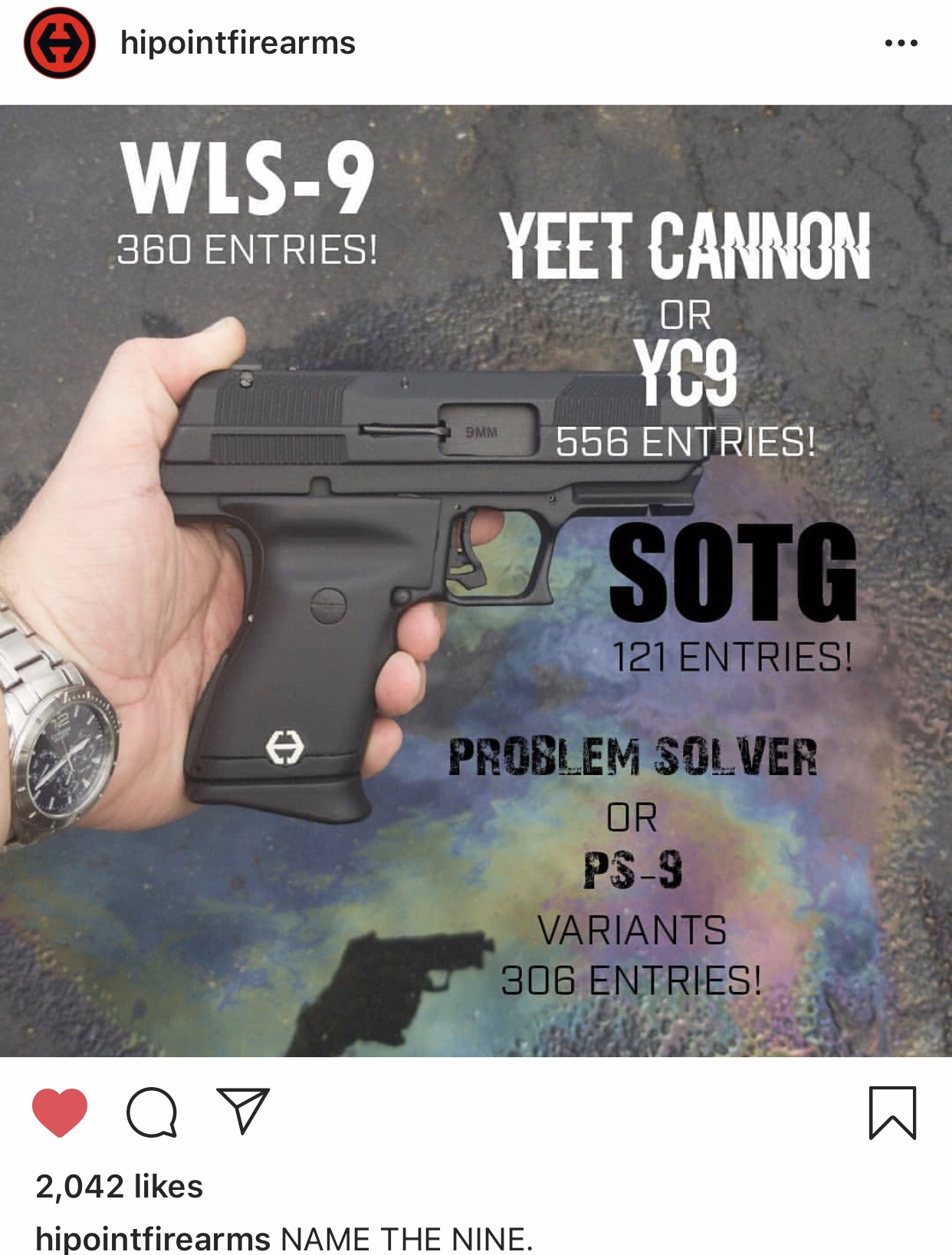 What happens when the internet names Hi-Point's new 9mm