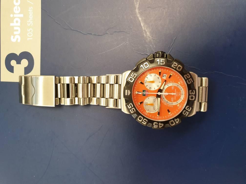 [Ολοκληρώθηκε] FS.Tag heuer f1orange quartz - Αγγελίες για μεταχειρισμένα ρολόγια
