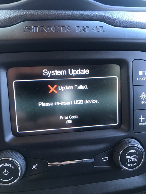 Problems with uconnect update - Jeep Renegade Forum
