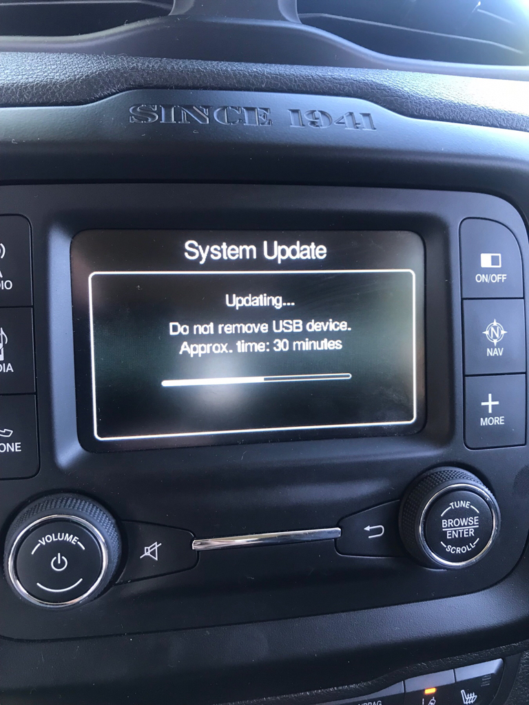Problems With Uconnect Update Jeep Renegade Forum