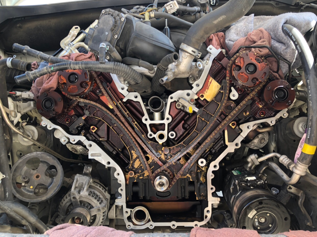 2008 5.7 timing chain tensioner replacement   Toyota ...