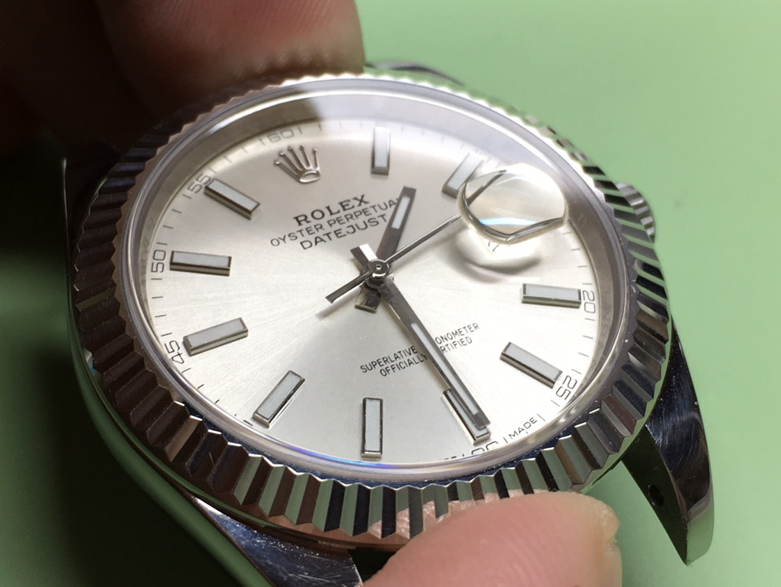 ARF 126334 DateJust 41 με γνήσιο κρύσταλλο και δίσκο ημερομηνίας  - Ρολόγια Replica