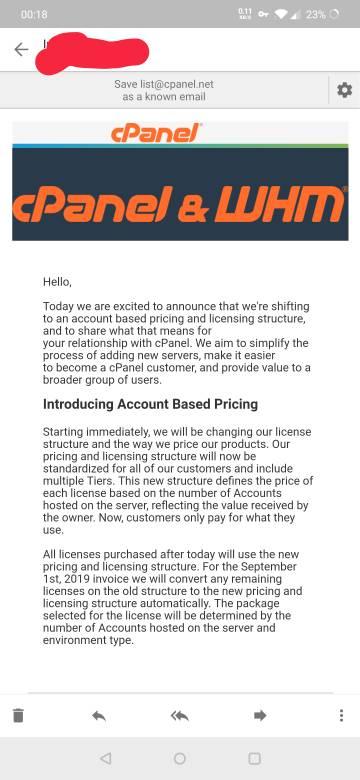 Absurd cPanel license price increase | Page 3 | MyBroadband Forum