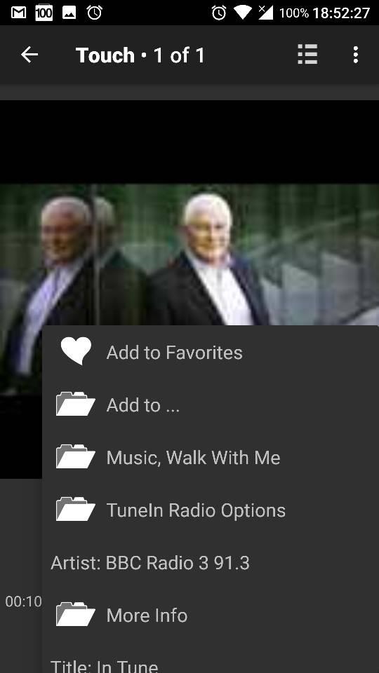 Tunein Radio options missing in Web GUI