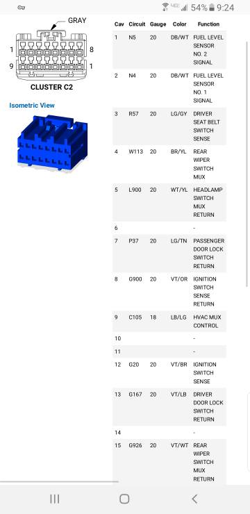 Dash Cluster Wiring Diagram