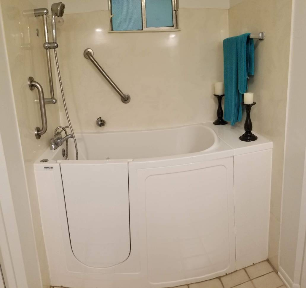 Walk In Tub To Walk In Shower Conversion Ceramic Tile